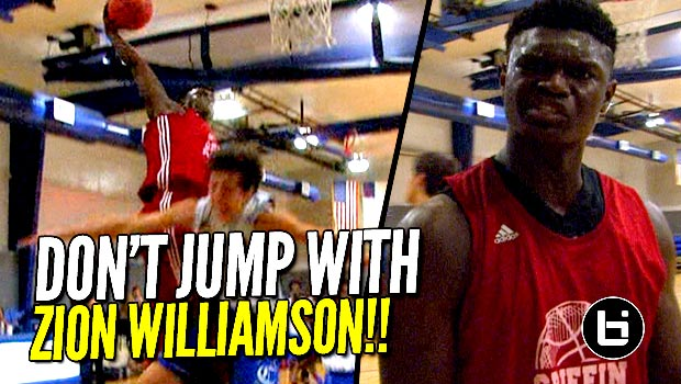 Zion Williamson Dunks All Over Steph Curry's Old High School! Full Highlights!