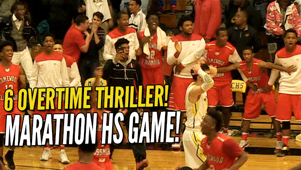 The Endless Game! 6 OT Marathon! Crazy Marian Catholic vs Homewood-Flossmoor Rivalry Game