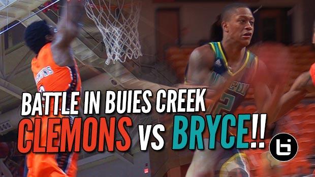 CJ Bryce Takes on Top 10 Scorer in NCAA Chris Clemons in Buies Creek!