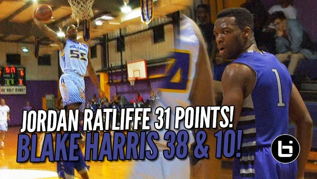 Washington Commit Blake Harris 38 & 10 vs VMI's Jordan Ratliffe's 31!