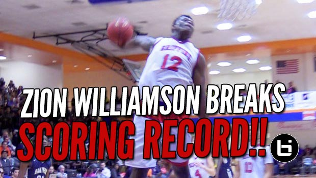 Zion Williamson Dunks His Way to Tournament Scoring Record!