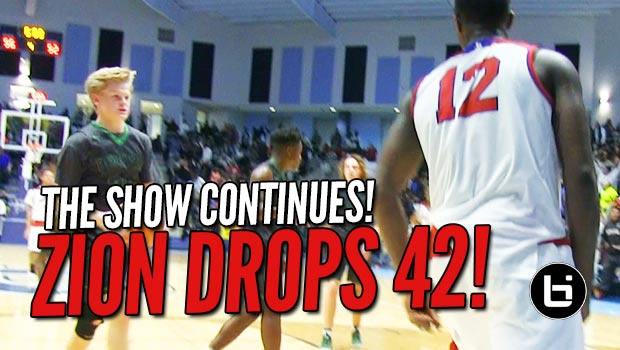 Zion Williamson Scores 42 & Misses ONLY 2 SHOTS!?! The Show Continues