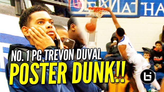 DOD: Trevon Duval POSTER DUNK on Defender at National HS Hoops Festival!!