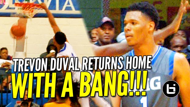 Trevon Duval Returns Home With a BANG! Poster Dunk & 2 Game Highlights From the DMV!