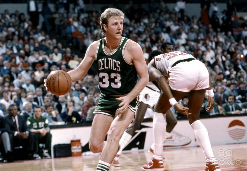 13 Minutes of Larry Bird Abusing Defenders With Post Moves