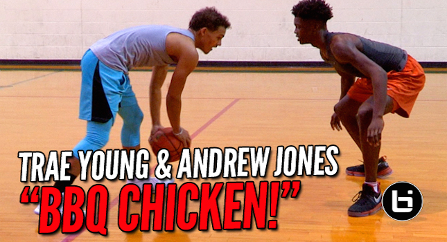 "Trae Young & Andrew Jones Spent Christmas In The Gym! ""BBQ CHICKEN"""