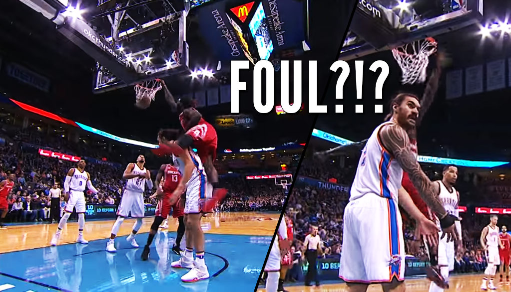 Refs Call A Foul On Steven Adams for Standing Still & Getting Dunked On By Montrezl Harrell