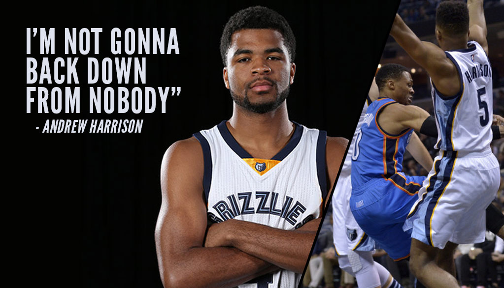 "Andrew Harrison on Facing Westbrook, ""I'm not gonna back down from nobody."""