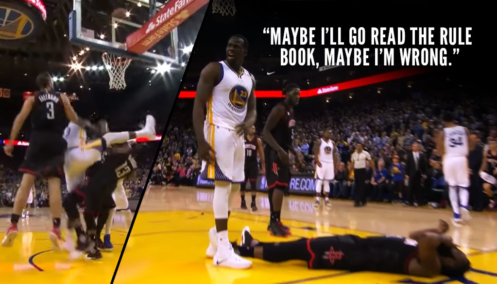 Draymond Green Kicks James Harden In The Face, Questions Officiating After Double OT Loss