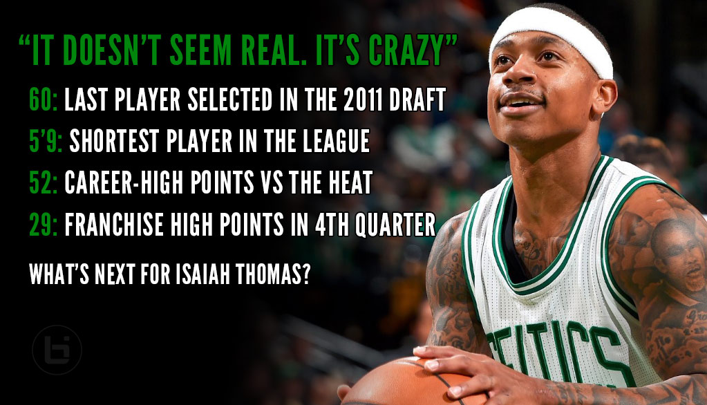 5'9 Isaiah Thomas Made His Mom Proud With Career-High 52 Points, Franchise-High 29 In The 4th!