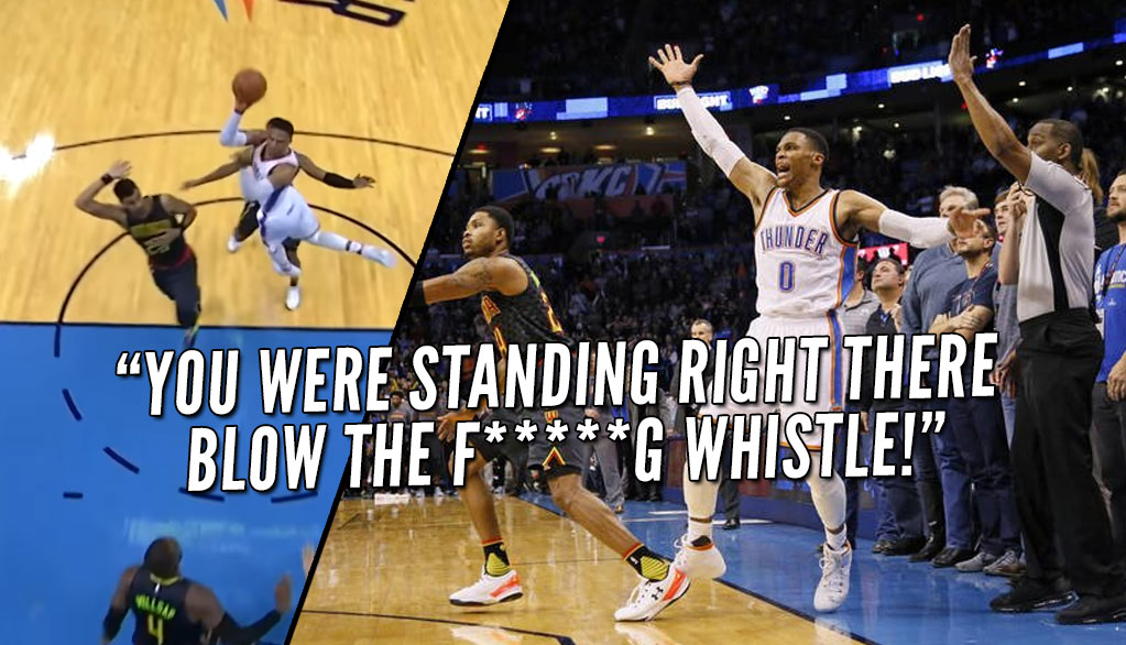 Missed Fouls or Awful Hero Ball Shots? Russell Westbrook Upset Over No-Calls On Final 3 Shots In Loss to Hawks