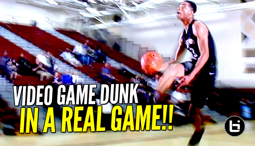 Cassius Stanley VIDEO GAME DUNK In a Game!!! Best Dunker In The Nation?