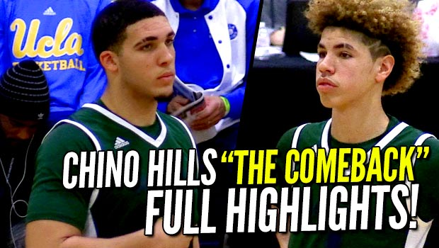 "Chino Hills vs Clark ""The Comeback"" FULL Highlights! LiAngelo Ball Drops 40!"