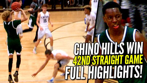Chino Hills 42nd Straight Win vs Crespi Turned Into a DUNK-FEST!  FULL Highlights!