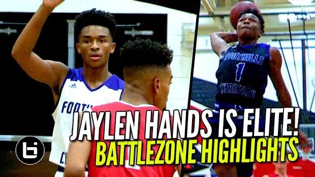 Jaylen Hands Shows Why He's An ALL AMERICAN! Battlezone FULL Highlights!