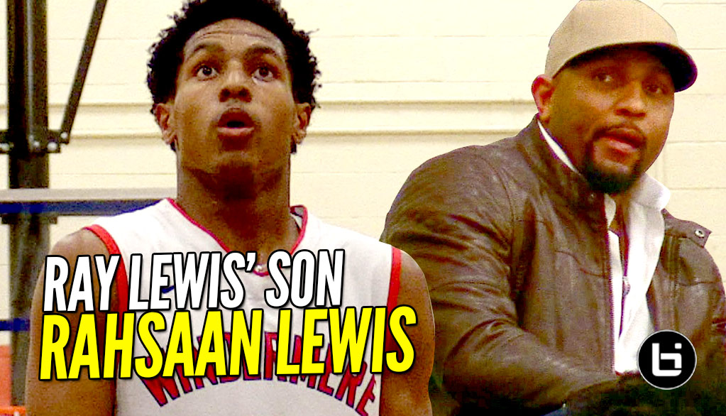 Ray Lewis' Son Rahsaan Lewis Is D1 BOUND! 5'9 PG is a 2-Way Player!