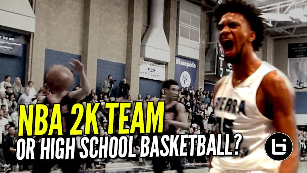 NBA 2K Squad In The Form of High School Team! Marvin Bagley & Sierra Canyon DOMINATE!!