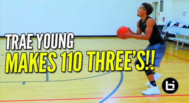 The Best Shooter in The Country! Trae Young Making 110 Three's During Private Workout!