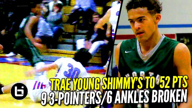 Trae Young Puts Up 52 Points W/9 Three's & 6 Ankle Breakers!