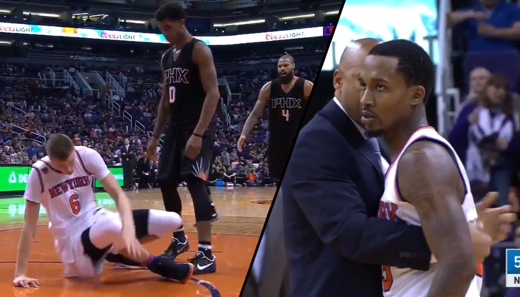 Brandon Jennings Goes After Marquese Chriss For Throwing Kristaps Porzingis To The Ground