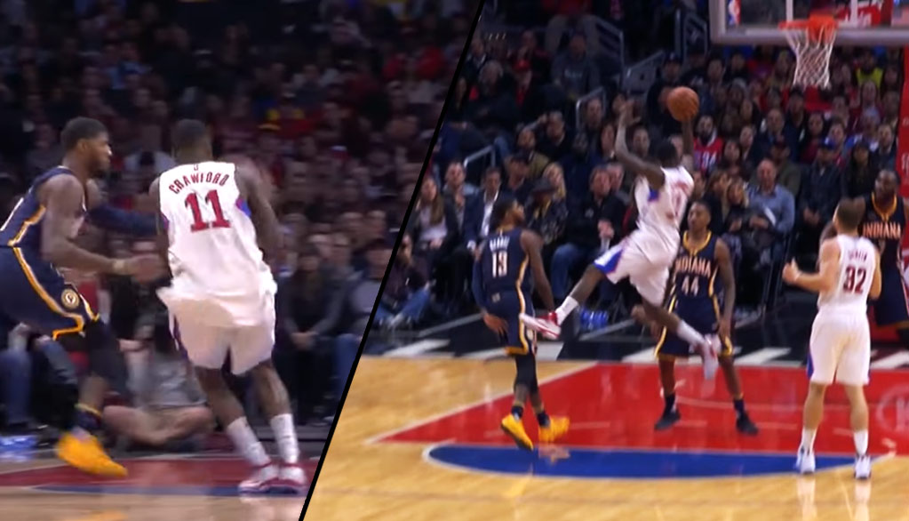 Where's The Foul? Jamal Crawford Hits The Falling And-1 vs Paul George
