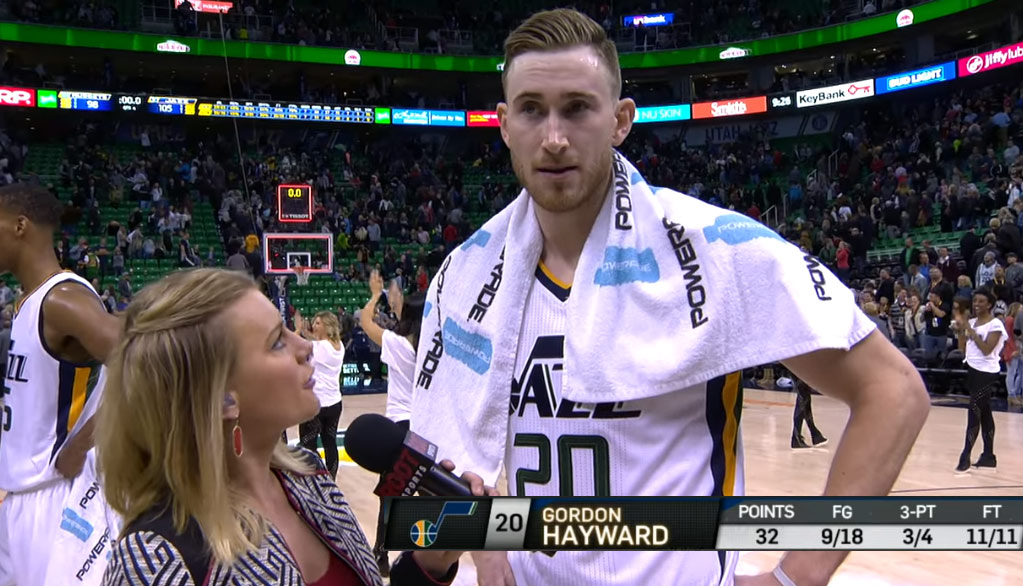 Gordon Hayward Scored 21 of 32 Points in 3rd Quarter While Maintaining His Perfect Hair!
