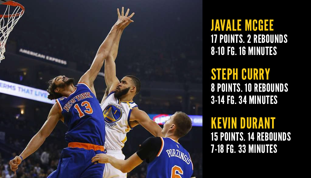 JaVale McGee's Best Game As A Warrior, Outscores Curry & KD While Playing Half The Minutes!?