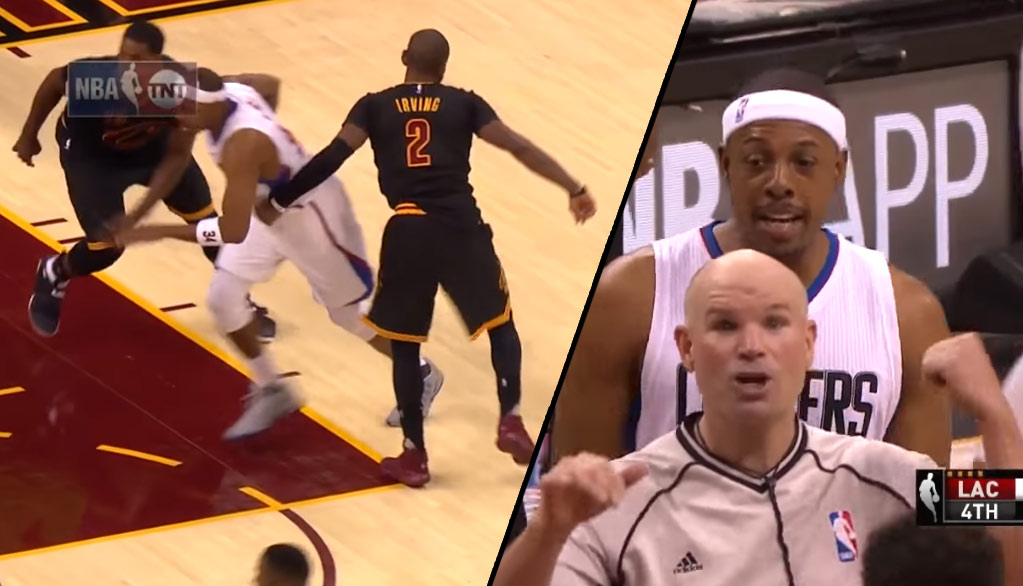 "Kyrie Irving ""Punches"" Paul Pierce In The Ribs, Gets Flagrant 1 Foul"