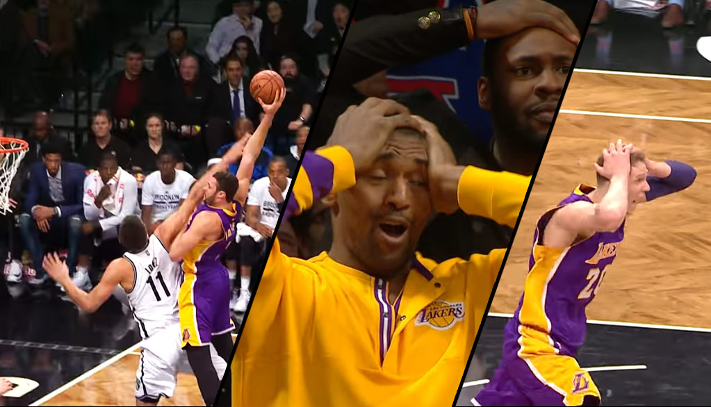 Top 5 Reactions To Larry Nance Jr Murdering Brook Lopez