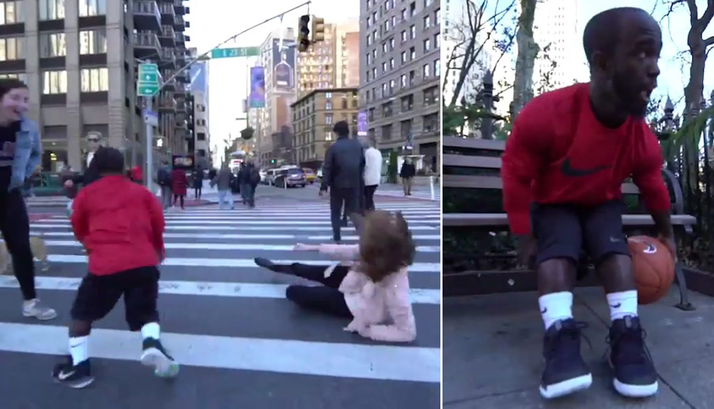 (VIRAL VIDEO) 4'5 Mani Love Breaking Strangers' Ankles In The Streets Of NYC