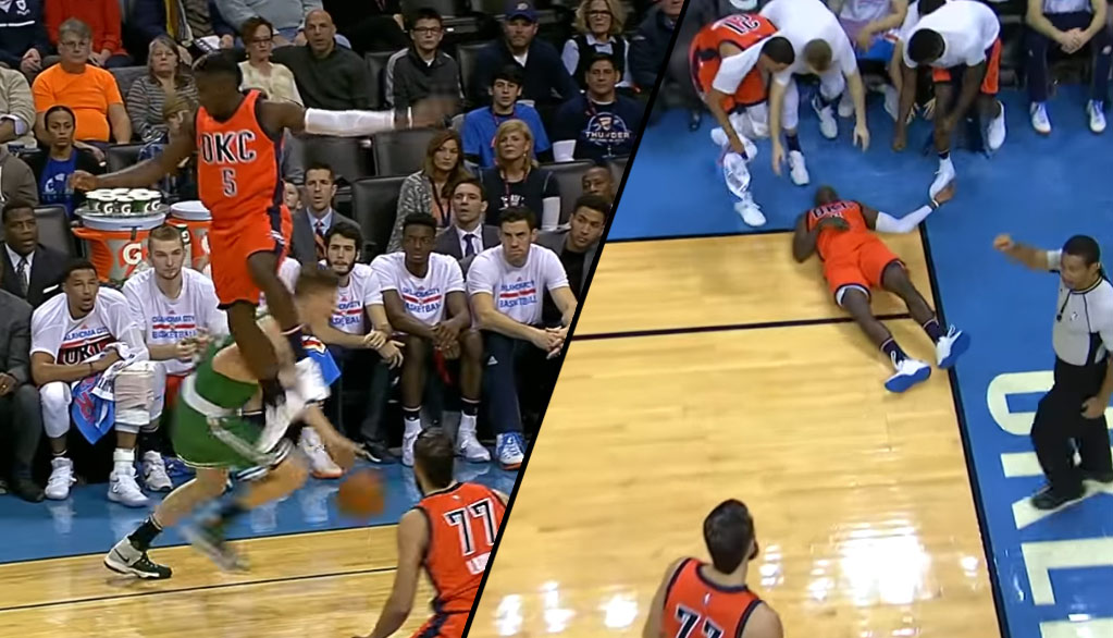 Victor Oladipo Leaves Game After Taking A Scary Fall From A Pump Fake