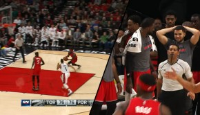 Art of the Day: Terrence Ross dunks on Kenneth Faried ...
