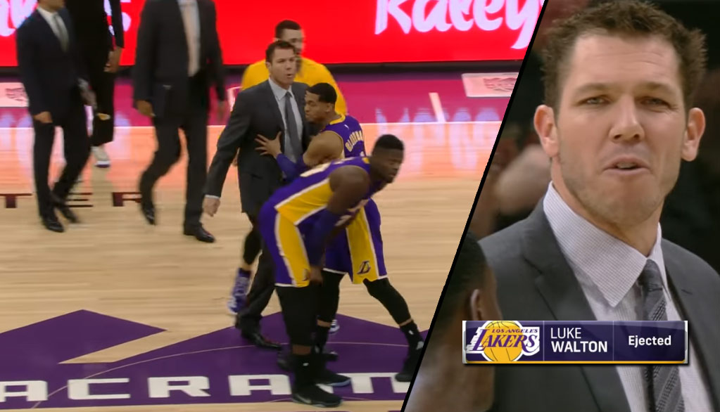 Luke Walton Gets Ejected In 1st Quarter of Tech Fest Between Lakers/Kings