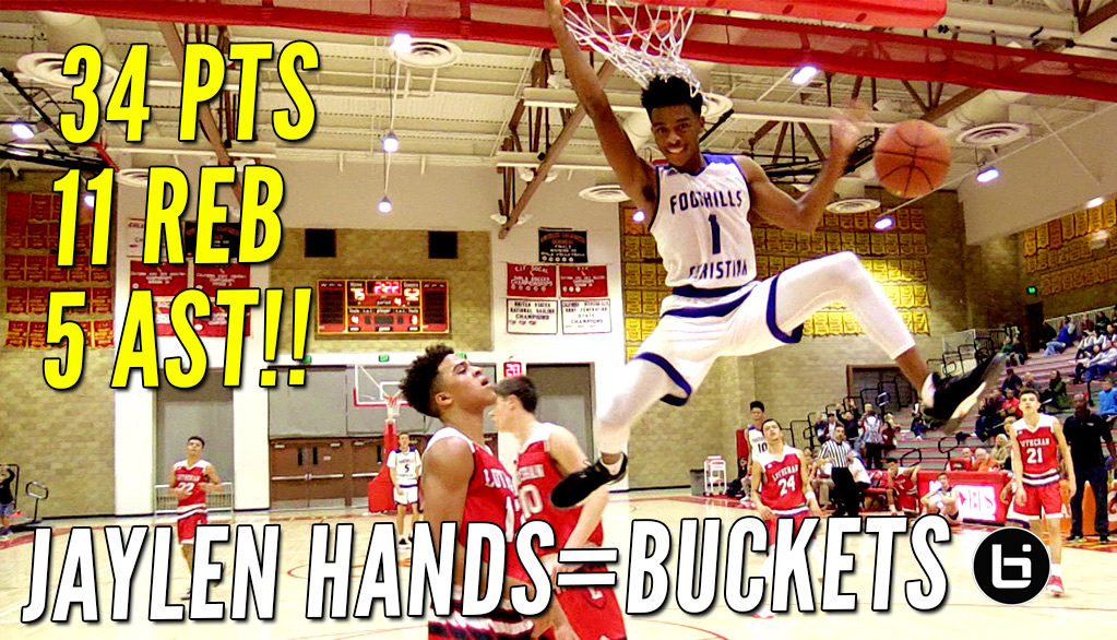 Jaylen Hands Barely Misses Off The Glass Self Oop at Torrey Pines