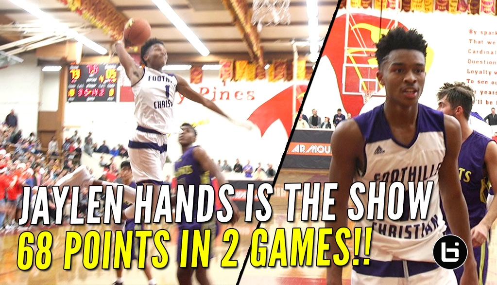 Jaylen Hands Puts Up 68 Points in 2 Games at UA Holiday Classic!