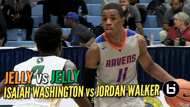 Jelly vs Jelly! Isaiah Washington (St Raymond's) vs Jordan Walker (Patrick School) Slam Dunk to The Beach Full Highlights!