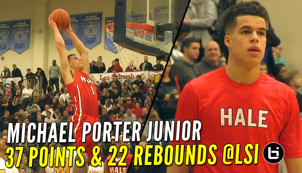 Michael Porter Jr. 37 Pts, 22 Rbs & NASTY Dunk In Front of His Future UW Coach At LSI!
