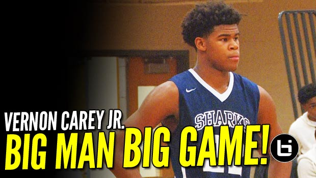 Vernon Carey Jr. Shines in the #HoopState! Former NFL'er Son Has Game!!