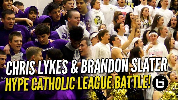 Chris Lykes & Brandon Slater BATTLE in HYPE Catholic League Match-Up!