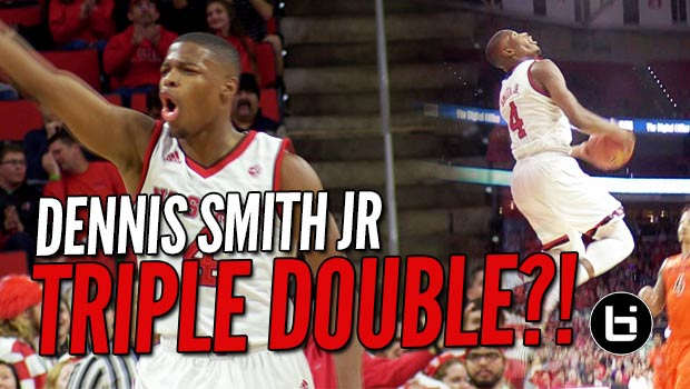 Dennis Smith Jr TRIPLE DOUBLE in ACC Home Opener vs Top 25 VT!