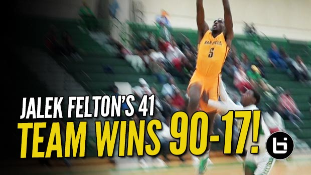 Jalek Felton's 41 Leads Team to 90-17 Beat Down on the Road