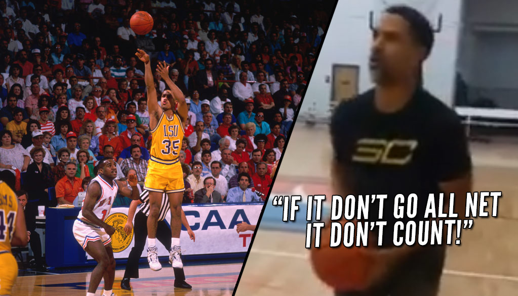 "Shooting Session With Mahmoud Abdul-Rauf Wearing A Steph Curry Shirt: ""If It don't go all net it don't count"""