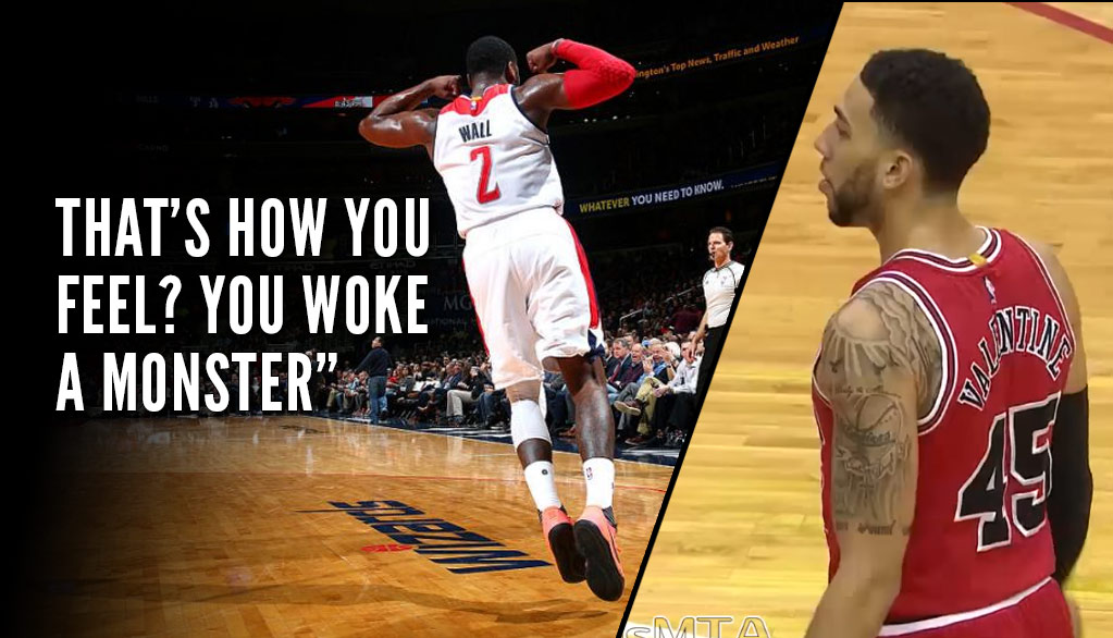 "John Wall Hits Game Winner After Bulls Denzel Valentine ""Woke A Monster"" By Celebrating Too Early"