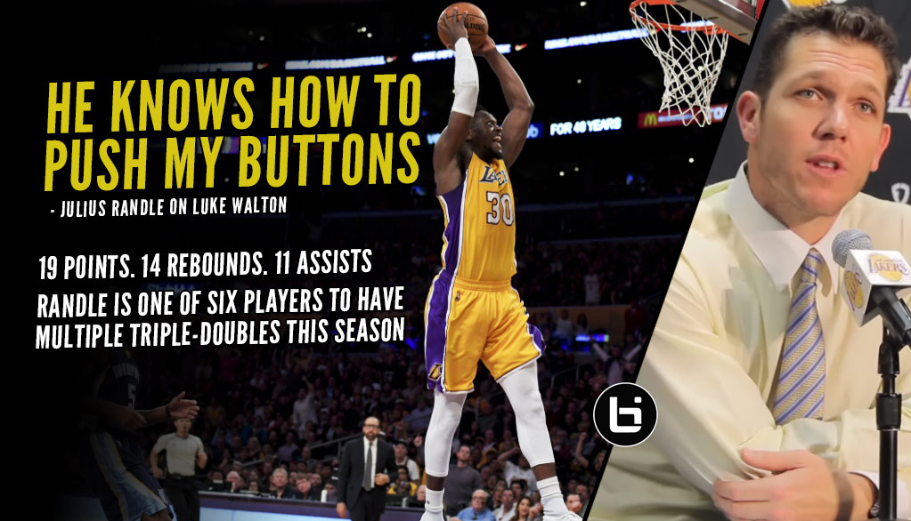 Julius Randle Gets Triple-Double After Being Challenged By Luke Walton In Practice