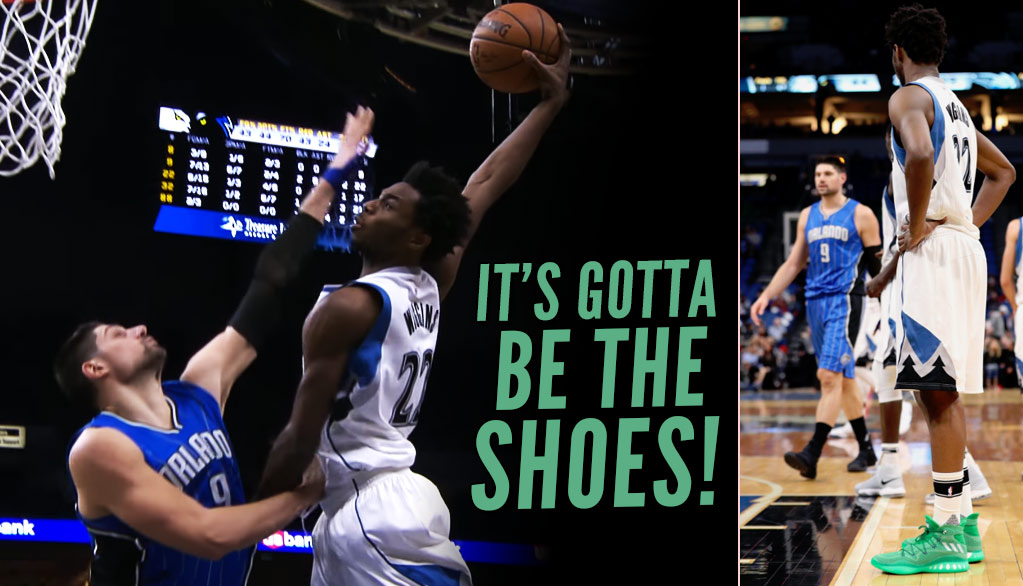 Andrew Wiggins' Nasty Explosive Dunk Over Vucevic & Nasty Crazy Explosive PE Shoes