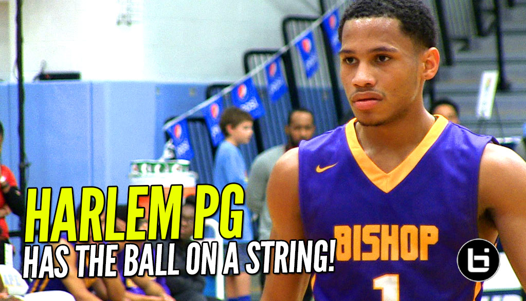 Markquis Nowell Has the Ball On a String! Harlem PG Shines at Slam Dunk to the Beach!
