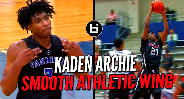 Texas Athletic Wing Kaden Archie Has One Smooth Game! Ballislife Mixtape