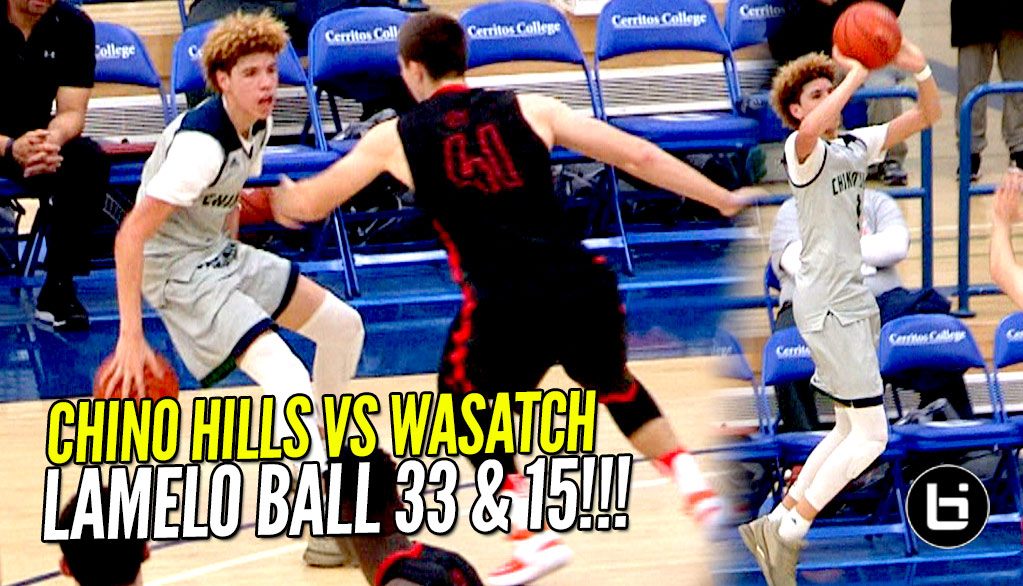 LaMelo Ball GOES FULL STEPH CURRY MODE! Chino Hills Vs Wasatch Academy!! Full Highlights