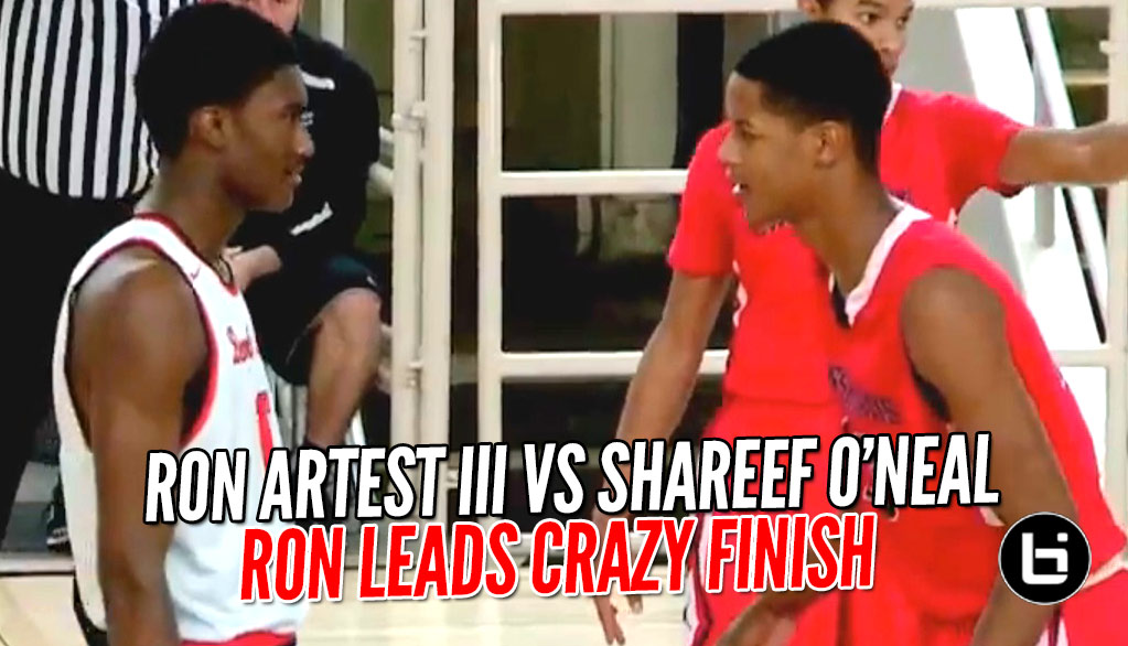 Ron Artest III vs Shareef O'Neal Part 2 Gets Upstaged By Game Winning 3 Pointer!!