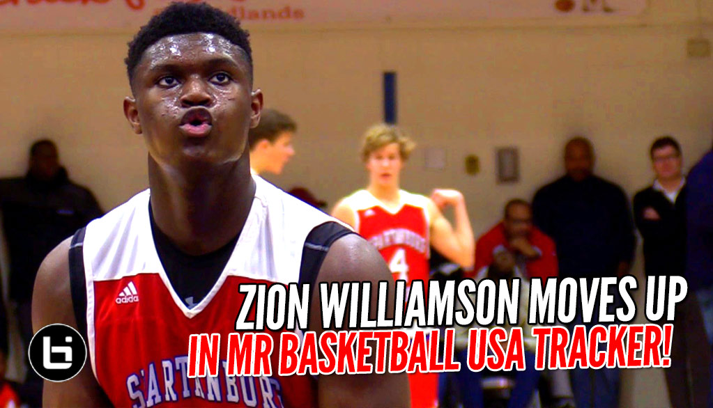 Zion Williamson MOVES UP in Mr. Basketball USA Tracker! - Ballislife.com d0cf62d10